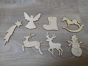 Dekorácie - Drevená vianočná ozdoba - 10043876_