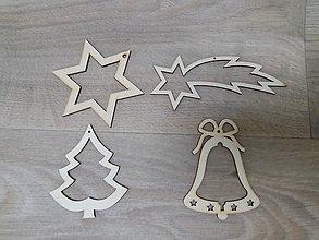 Dekorácie - Drevená vianočná ozdoba - 10043882_
