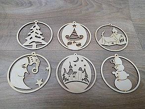 Dekorácie - Drevená vianočná ozdoba - 10043884_