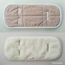 Textil - Podložka do vaničky Concord SLEEPER 100% merino Kvietok  béžový - 10043829_