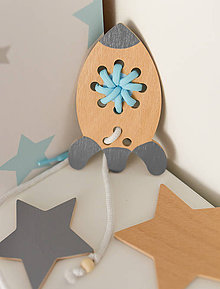 Hračky - Drevená raketa - prevliekacia hračka (šedá) - 10041064_