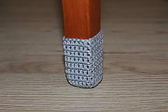 Sivé papučky (sada na 4 stoličky)