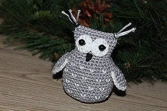 Dekorácie - Sova ako vianočná ozdoba - 10042756_