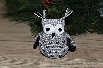 Dekorácie - Nočná sova ako vianočná dekorácia - 10043049_