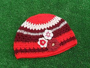 Detské čiapky - čiapka červenobordová - 10043663_