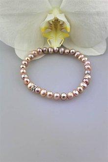 Náramky - pravé perly náramok - 10043768_