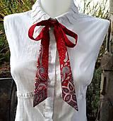 Šály - Red fantasy-dámska hodvábna maľovaná viazanka - 10041283_