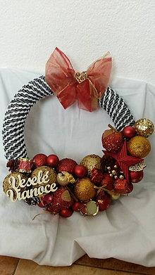 Dekorácie - Vianočný veniec na zavesenie - 10043083_