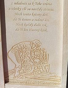 Dekorácie - Darčeková krabica gravírovanie z fotky - 10042926_