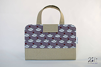 Detské tašky - Detský kufrík - pastelkovník Lodičky (béžový) - 10042851_