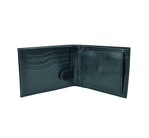 Pánska peňaženka z pravej kože v čiernej farbe