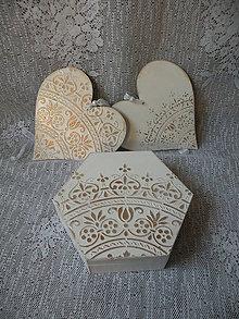 Darčeky pre svadobčanov - Krabička s reliéfem dárková, svatební - 10043463_