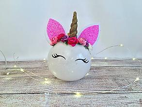 Dekorácie - Vianočná guľa Jednorožec - 10041077_