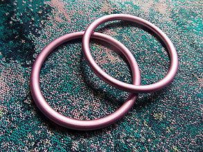 Polotovary - Svetloružové Ring Sling krúžky - 10040346_