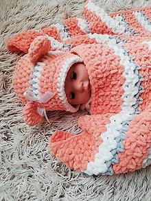 Detské súpravy - háčkovaná súprava pre bábätko - zľava - 10041271_