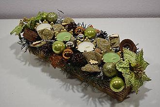 Dekorácie - Adventný svietnik: Čaro Vianoc 30401 - 10042999_