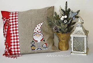Úžitkový textil - vankúšiky - škriatkovia (vankúšik) - 10041318_