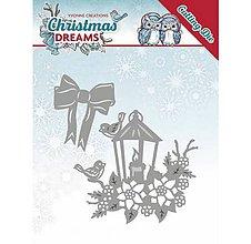 Pomôcky/Nástroje - Kovová šablóna Christmas Dreams - Christmas Lantern - 10043240_