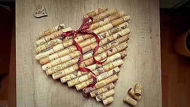 Dekorácie - Korkové srdce - 10041190_