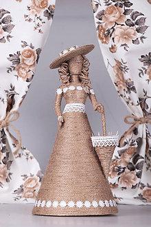 Bábiky - Jutová bábika - 10042887_