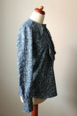 Košele - Denimová košeľa s potlačou - 9127822_