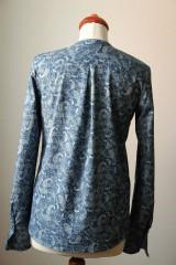 Košele - Denimová košeľa s potlačou - 9127825_