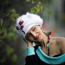 Čiapky - Origo baretka  hačkovanec koralkovec - 10043423_
