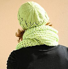 Čiapky - pletená čepice - 10041473_