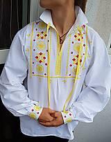 Oblečenie - detvianska košeľa - 10041045_