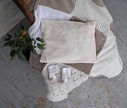 Textil - Béžová baby deka s pohánkovým vankúšikom - 10042512_