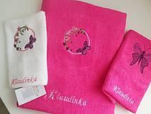 Úžitkový textil - sada Motýľ - 10047073_