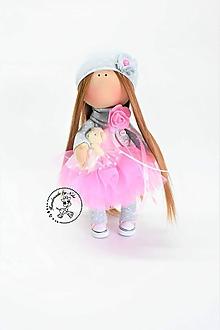 Bábiky - Bábika v ružovej tyl sukničke - 10044375_