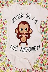 Detské oblečenie - Zver sa mi, nič nepoviem (lebo neviem ako) :) - 10047381_