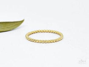 Prstene - 585/1000 zlatý prsteň guličkový hráškový - 10047172_