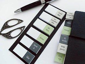 Papiernictvo - nalepovacie záložky Organize your Time - 10044838_