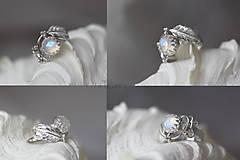 Prstene - Strieborný anjelský prsteň s mesačným kameňom - S Tebou - 10045221_