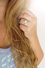Prstene - Strieborný anjelský prsteň s mesačným kameňom - S Tebou - 10045227_
