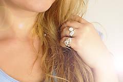 Prstene - Strieborný anjelský prsteň s krištáľom - S Tebou - 10046183_
