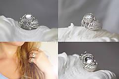Prstene - Strieborný anjelský prsteň s krištáľom - S Tebou - 10046184_
