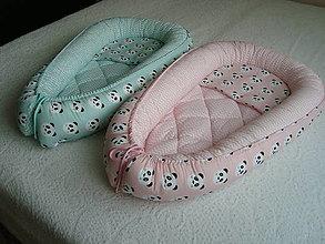 Textil - Hniezda pre bábätká s pandami (Ružová) - 10045885_