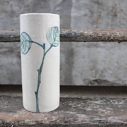Nádoby - váza s eucalyptovými lístkami - 10047604_