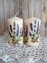 Svietidlá a sviečky - sada 2 sviečok - levanduľové - 10046078_