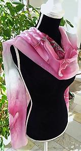 Šatky - magnólia ružovo-sivá - 10047561_