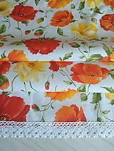 Úžitkový textil - Obrus-štóla  divé maky 140x40cm - 10048048_