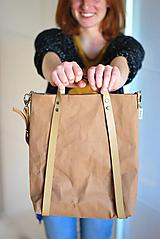 Veľké tašky - Batohotaška (svetlo hnedá) - 10048579_