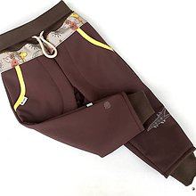 Detské oblečenie - Hnědá - softshellové kalhotky - 10048448_