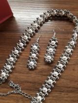 Sady šperkov - náhrdelnik a naušnice - 10047147_