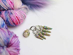 Iné šperky - Stitch marker set - označovač očiek - UNICORN - 10044205_