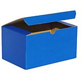 Obalový materiál - 200077 BAREVNÁ ŠKATUĹA modrá/19,3 x 12,8 x 10,3 cm - 10046113_