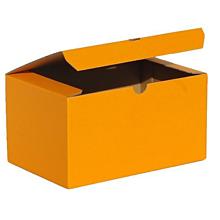 Obalový materiál - 200346  BAREVNÁ ŠKATULA oranžová/19,3 x 12,8 x 10,3 cm - 10046108_